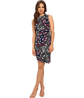 Donna Morgan - Sleeveless Printed Matte Jersey Dress w/ Rouched Side
