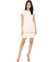 Vince Camuto - Short Sleeve Shift with Inset Trim at Hem Dress