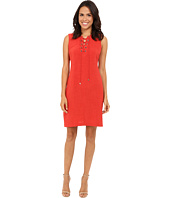 Christin Michaels - Vera Lace-Up Shift Dress