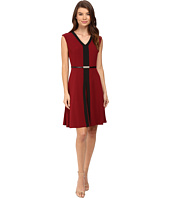 Christin Michaels - Kari Fit and Flare Belted Dress