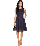 Christin Michaels - Misti Fit and Flare Lace Trim Dress
