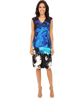 Christin Michaels - Ancona Printed Scuba Dress