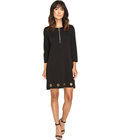 Christin Michaels - Price Zip Front Grommet Dress
