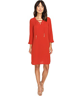Christin Michaels - Desini Lace-Up Grommet Dress