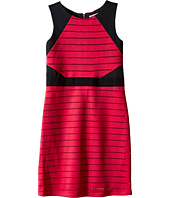 Us Angels - Sleeveless Scuba Laser Cut Color Block Sheath Dress (Big Kids)