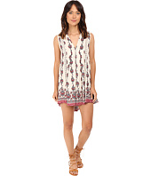 Brigitte Bailey - Hazelle Border Print Dress with Lace Inset