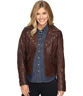 Stetson - Crinkled Leather Jacket w/ Nailheads