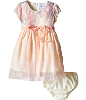 Us Angels - Printed Sequin Mesh Cap Sleeve Dress w/ Tulle Skirt (Infant)