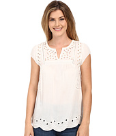 Lucky Brand - Cut Out Embroidered Top
