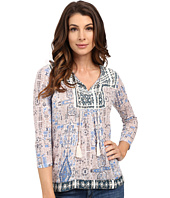 Lucky Brand - Printed Peasant Top