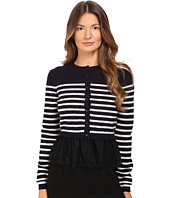 RED VALENTINO - Striped Peplum Sweater