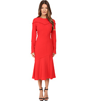 Prabal Gurung - Long Sleeve Crew Neck Dress w/ Separating Yoke