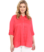 Calvin Klein Plus - Plus Size Linen/Knit Combo Tunic