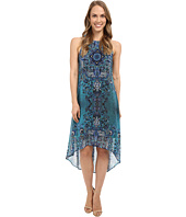 Karen Kane - Sheer Print High-Low Hem Dress