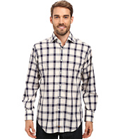 Thomas Dean & Co. - Long Sleeve Woven Jacquard Plaid