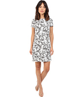 Maggy London - Flower Basket Weave Jacquard Shift Dress