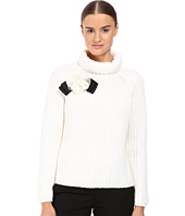 Kate Spade New York - Rosette Bow Alpaca Sweater