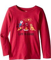 Life is Good Kids - Elemental Camp Fire Long Sleeve Tee (Little Kids/Big Kids)