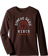 Life is Good Kids - Good Vibes Basketball Long Sleeve Tee (Little Kids/Big Kids)