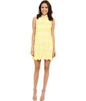 Laundry by Shelli Segal - Delmar Embroidered Mesh Sleeveless Mock Neck Shift Dress