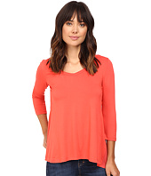 Karen Kane - Shirred Contrast-Back Top