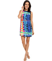 "Laundry by Shelli Segal - ""Tiki Lounge"" Greyson Crepe Printed Woven Tank Dress with Side Zips"