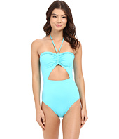 MICHAEL Michael Kors - Bohemian Rhapsody Beaded Halter Maillot One-Piece