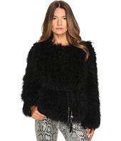 Versace Jeans - Tie Waist Fur Sweater