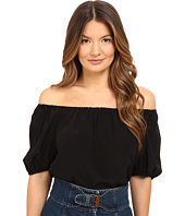 RED VALENTINO - Silk Crepe De Chine Off the Shoulder Blouse