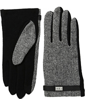 LAUREN Ralph Lauren - Menswear Pattern Metal Logo Touch Gloves
