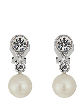 LAUREN Ralph Lauren - Social Set Pearl Crystal Double Drop Clip Earrings