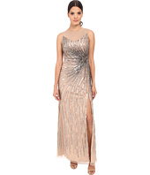 Adrianna Papell - Sleeveless Beaded Mermaid Slit Gown