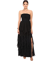 Adrianna Papell - Strapless Chiffon Ruffle Gown