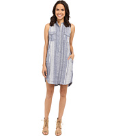 Blank NYC - Striped Sleeveless Linen Dress in Out Of Spite