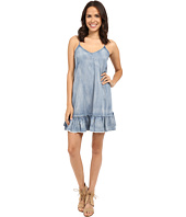 Blank NYC - Ruffle Denim Dress in Next In Line