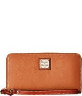 Dooney & Bourke - Pebble Leather Large Zip Around Wristlet