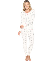 Life is Good - Snowflake Pattern Thermal Sleep Set