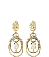 Oscar de la Renta - Bold Double Loop Cameo C Earrings