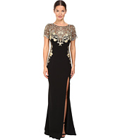 Marchesa Notte - Metallic Embroidered Gown
