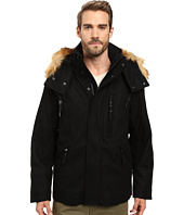 Marc New York by Andrew Marc - Fremont Pressed Wool Puffer Bomber w/ Removable Hood