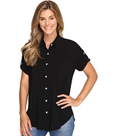 Allen Allen - Tab Sleeve Button Front Shirt