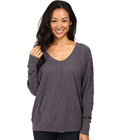 Allen Allen - Long Sleeve Seamed Dolman U-Neck