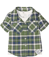 Pumpkin Patch Kids - Mock Tee Check Shirt (Infant)