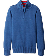 Tommy Hilfiger Kids - Edward 1/2 Zip with Rib Stitch Sweater (Toddler/Little Kids)