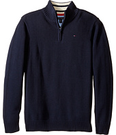 Tommy Hilfiger Kids - Edward 1/2 Zip with Rib Stitch Sweater (Big Kids)
