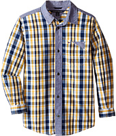 Tommy Hilfiger Kids - Christopher Long Sleeve Woven Shirt (Toddler/Little Kids)
