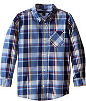 Tommy Hilfiger Kids - Kingsley Woven Long Sleeve Shirt (Toddler/Little Kids)