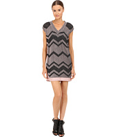 M Missoni - Bicolor Mesh V-Neck Dress