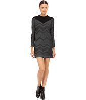 M Missoni - Bicolor Mesh Long Sleeve Lurex Dress