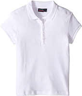 Nautica Kids - Girls Plus Short Sleeve Polo with Ruffle Placket (Big Kids)